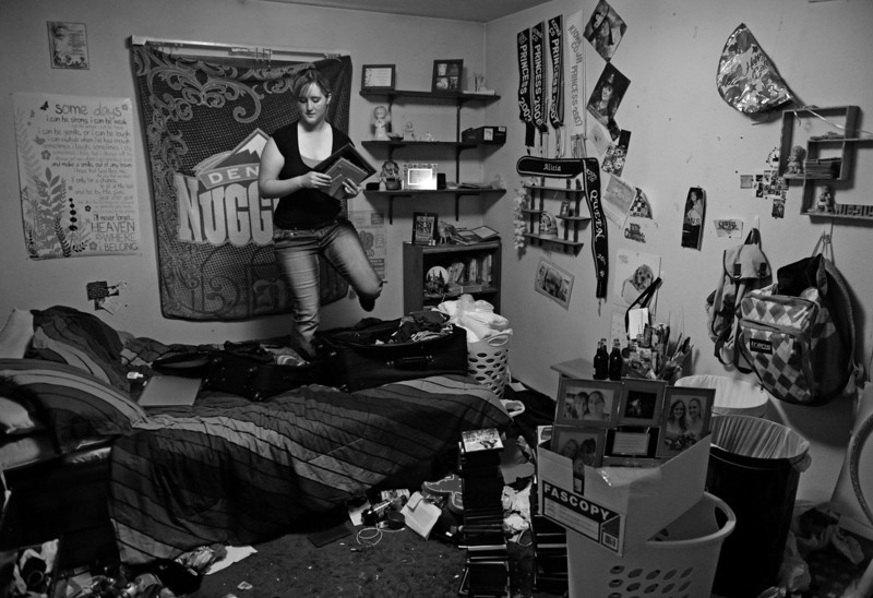 "Description of  EADS, CO - AUGUST 12: Lisa James packs up her room at her family's home in Eads, to leave for college, August 12, 2013. The 18-year-old James, former rodeo queen of Kiowa County, is heading to Texas Christian University to study political science. ""I love living here, and hopefully someday I can come back. But is it's hard to find jobs here,"" she said. According to the last census data, Colorado's population has grown by 17 percent, yet Kiowa County's population has declined by 10 percent."