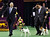 Handler Eddie Boyes (L) reacts after Adam, a Smooth Fox Terrier, wins the Terrier Group at the 137th Westminster Kennel Club Dog Show at Madison Square Garden in New York, February 12, 2013. REUTERS/Shannon Stapleton
