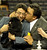 Handler Ernesto Lara (L) holds Banana Joe, an Affenpinscher, after he won Best of Show during the Westminster Kennel Club Dog Show February 12, 2013 at Madison Square Garden in New York. STAN HONDA/AFP/Getty Images