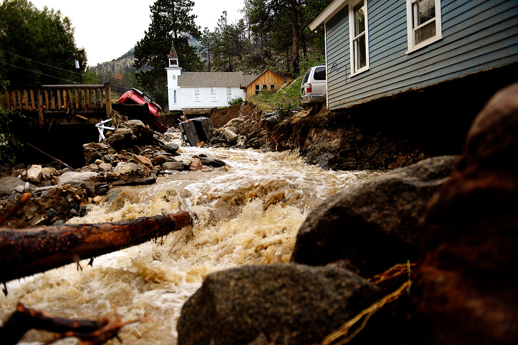 Description of . SALINA, CO. - September 13: The town of Salina in Four Mile Canyon was mostly washed away after heavy rains caused flash flooding and major damage September 13, 2013. (Photo By Joe Amon/The Denver Post)