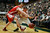 Fort COLLINS, CO. - FEBRUARY 23: CSU Colton Iverson  battles for a loose ball with New Mexico Cameron Bairstow during second half action at Moby Arena in Fort Collin, CO February  24, 2013. The Colorado State Rams mens basketball team lost to the New Mexico Lobos, 82-91. (Photo By Craig F. Walker/The Denver Post)