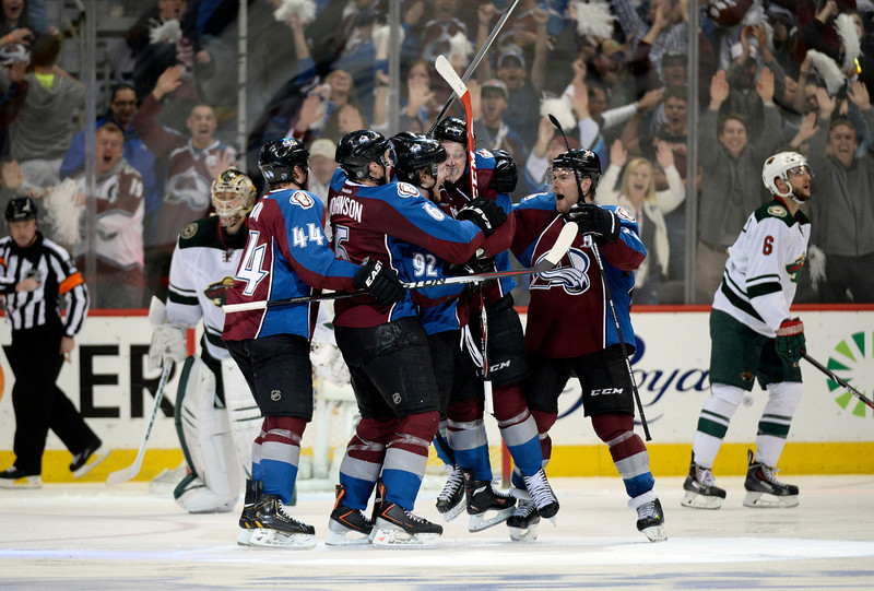 Avs Rally Again, Win Game 5 In OT Over Wild With Nathan MacKinnon Goal