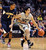 Sabatino Chen of CU drives around Tyrone Wallace of Cal during the first half of the January 27th, 2013 game in Boulder.