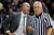 Colorado coach Tad Boyle yells at referees after a call against his team during the first half of an NCAA college basketball game against California in Boulder, Colo., on Sunday, Jan. 27, 2013. (AP Photo/David Zalubowski)