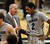 CU Coach Tad Boyle talks to Xavier Johnson during the second  half of the January 27th, 2013 game in Boulder.