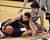 Justin Cobbs of Cal and Sabatino Chen of CU goo to the floor during the second half of the January 27th, 2013 game in Boulder.