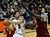 University of Colorado's Askia Booker passes the ball in front of DeWayne Dedmon during a game against the University of Southern California on Thursday, Jan. 10, at the Coors Event Center on the CU campus in Boulder. Jeremy Papasso/Daily Camera