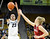 University of Colorado's Chucky Jeffery takes a shot over Taylor Greenfield during a game against Stanford on Friday, Jan. 4, at the Coors Event Center on the CU campus in Boulder.    Jeremy Papasso/Camera
