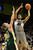 Buffs forward Josh Scott (40) put a shot over Rams center Colton Iverson (45) in the first half. The University of Colorado men's basketball team hosted Colorado State University inside the Coors Events Center Wednesday night, November 5, 2012. Karl Gehring/The Denver Post