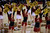 DENVER, CO. - FEBRUARY 07: Denver Pioneers dance team performs during the second half February 7, 2013 at Magness Arena.The Denver Pioneers defeated the Seattle Redhawks 72-55. (Photo By John Leyba/The Denver Post)