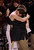 Denver coach Joe Scott embraced senior Chase Hallam in the closing minute of the game. The University of Denver men's basketball team defeated the Louisiana Tech Bulldogs 78-54 at Magness Arena Saturday night, March 9, 2013. (Photo By Karl Gehring/The Denver Post)