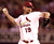 WOODY WILLIAMS -- St. Louis Cardinals starting pitcher Woody Williams pitches during the first inning against the Houston Astros in St. Louis on Sept. 20, 2002. (AP Photo/James A. Finley)