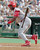 REGGIE SANDERS -- Cincinnati Reds Reggie Sanders tosses his bat as he watches a seventh-inning hit that drove in the winning run against Philadelphia Phillies pitcher Mike Grace on Sept. 13, 1997, in Philadelphia.   (AP Photo/Chris Gardner)