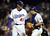 AARON SELE -- Pitcher Aaron Sele #41 and catcher Russell Martin #55 of the Los Angeles Dodgers celebrate on the mound after the Dodgers' victory against the Florida Marlins on August 15, 2006 at Dodger Stadium in Los Angeles, California.     (Photo by Lisa Blumenfeld/Getty Images)