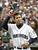 EDGAR MARTINEZ -- Seattle Mariners' Edgar Martinez tips his cap to the crowd as he is introduced on opening day against the Chicago White Sox on April 1, 2002, in Seattle. Martinez hit a 2-RBI single in the eighth. The White Sox won, 6-5. (AP Photo/Elaine Thompson)