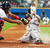 JEFF BAGWELL -- Houston Astros' Jeff Bagwell scores as Atlanta Braves catcher Johnny Estrada tries to make the tag on a double by Jeff Kent in the fifth inning during Game 1 of the National League Division Series at Turner Field in Atlanta on Oct. 6, 2004. (AP Photo/John Bazemore)
