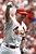 MARK McGWIRE -- St. Louis Cardinals' Mark McGwire celebrates his 61st home run of the season in the first inning off Chicago Cubs pitcher Mike Morgan on Sept. 7, 1998, in St. Louis. The homer tied Roger Maris'  37-year-old major league home run record of 61. (AP Photo/Eric Draper)