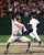 JOSE MESA -- Cleveland Indians pitcher Jose Mesa celebrates the last out of Game 6 of the American League Championship Series against the Baltimore Orioles on Oct. 15, 1997, at Camden Yards in Baltimore.  (AP Photo/Doug Mills)