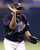 ROBERTO HERNANDEZ -- Tampa Bay Devil Rays pitcher Roberto Hernandez waves goodbye to Boston Red Sox batter Trot Nixon after striking him out to end the game in the ninth inning on Sept. 29, 2000, at Tropicana Field in St. Petersburg, Fla.  (AP Photo/Chris O'Meara)