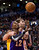 Los Angeles Lakers forward Dwight Howard, left, drives past Aaron Gray, right, during first half NBA basketball action in Toronto on Sunday Jan. 20, 2013. (AP Photo/THE CANADIAN PRESS,Nathan Denette)