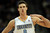 Denver Nuggets' Danilo Gallinari (8) reacts after hitting a three-pointer late in the fourth quarter of an NBA basketball game against the Cleveland Cavaliers Friday, Jan. 11, 2013, in Denver. The Nuggets won 98-91 (AP Photo/Barry Gutierrez)