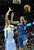 Wolves guard Alexey Shved (1) ducked past Denver center JaVale McGee (34) for a shot in the first half. The Minnesota Timberwolves took a bite out of the Denver Nuggets winning 101-97 at the Pepsi Center Thursday night, January 3, 2013. Karl Gehring/The Denver Post
