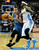 Denver guard Ty Lawson (3) shadowed Wolves guard Jose Barea (11) as he drove into the lane in the first half. The Denver Nuggets hosted the Minnesota Timberwolves at the Pepsi Center Thursday night, January 3, 2013. Karl Gehring/The Denver Post