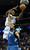 Denver forward Kennth Faried flew past Wolves center Nikola Pekovic (14) in the second half. The Minnesota Timberwolves took a bite out of the Denver Nuggets winning 101-97 at the Pepsi Center Thursday night, January 3, 2013. Karl Gehring/The Denver Post