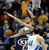 Denver forward Danilo Gallinari (8) worked under the basket against Minnesota forward Andrei Kirilenko (47) in the first half. The Denver Nuggets hosted the Minnesota Timberwolves at the Pepsi Center Thursday night, January 3, 2013. Karl Gehring/The Denver Post