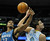 Wolves forward Dante Cunningham (33) and Denver forward Danilo Gallinari (8) battled for a loose ball in the first half. The Minnesota Timberwolves took a bite out of the Denver Nuggets winning 101-97 at the Pepsi Center Thursday night, January 3, 2013. Karl Gehring/The Denver Post