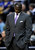 Utah Jazz head coach Tyrone Corbin  reacts during an NBA basketball game against the Denver Nuggets, Saturday, Jan. 5, 2013, in Denver. Denver defeated Utah 110-91.  (AP Photo/Jack Dempsey)