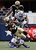 Running back Darren Sproles #43 of the New Orleans Saints carries the ball against cornerback Morris Claiborne #24 of the Dallas Cowboys and strong safety Charlie Peprah #26 of the Dallas Cowboys at Cowboys Stadium on December 23, 2012 in Arlington, Texas. The New Orleans Saints beat the Dallas Cowboys 34-31 in overtime. (Photo by Tom Pennington/Getty Images)