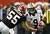 ATLANTA, GA - NOVEMBER 29:  John Abraham #55 of the Atlanta Falcons sacks Drew Brees #9 of the New Orleans Saints at Georgia Dome on November 29, 2012 in Atlanta, Georgia.  (Photo by Kevin C. Cox/Getty Images)