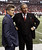 ATLANTA, GA - NOVEMBER 29:  Owner and CEO Arthur Blank and General Manager Thomas Dimitrof wait for an official review in the final minutes of the game between the Atlanta Falcons and the New Orleans Saints at Georgia Dome on November 29, 2012 in Atlanta, Georgia.  (Photo by Kevin C. Cox/Getty Images)