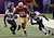 San Francisco 49ers tight end Vernon Davis (85) runs with the ball as Baltimore Ravens safety Bernard Pollard (31) and cornerback Cary Williams (29) give chase during the first half of the NFL Super Bowl XLVII football game, Sunday, Feb. 3, 2013, in New Orleans. (AP Photo/Bill Haber)