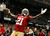 San Francisco 49ers running back Frank Gore (21) celebrates his third quarter touchdown against the Baltimore Ravens in the NFL Super Bowl XLVII football game in New Orleans, Louisiana, February 3, 2013. REUTERS/Lucy Nicholson