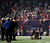 San Francisco 49ers tight end Vernon Davis (85)  looks around a dark stadium after the lights went out during the second half of NFL Super Bowl XLVII football game Sunday, Feb. 3, 2013, in New Orleans. (AP Photo/Matt Slocum)