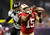 San Francisco 49ers wide receiver Michael Crabtree (15) is unable to hang onto a pass against Baltimore Ravens cornerback Corey Graham (24) in the third quarter in the NFL Super Bowl XLVII football game in New Orleans, Louisiana, February 3, 2013. REUTERS/Lucy Nicholson