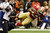 NEW ORLEANS, LA - FEBRUARY 03: Vernon Davis #85 of the San Francisco 49ers goes airborne after catching a pass against the Baltimore Ravens in the first quarter during Super Bowl XLVII at the Mercedes-Benz Superdome on February 3, 2013 in New Orleans, Louisiana.  (Photo by Ezra Shaw/Getty Images)