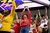 San Francisco 49ers fans cheer during the NFL Super Bowl XLVII football game between the San Francisco 49ers and Baltimore Ravens in New Orleans, Louisiana, February 3, 2013.      REUTERS/Stacy Revere