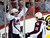 Colorado Avalanche' PA Parenteau (L) celebrates his goal with teammate Jamie McGinn during the second period of their NHL hockey game against the Calgary Flames in Calgary, Alberta, January 31, 2013. REUTERS/Todd Korol