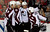 Colorado Avalanche's P.A. Parenteau, second from right, celebrates his goal with teammates, left to right, Jan Hejda, Jamie McGinn, and Matt Duchene during the second period of an NHL hockey game Thursday, Jan. 31, 2013, in Calgary, Alberta. (AP Photo/The Canadian Press, Jeff McIntosh)