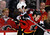 Calgary Flames' Jay Bouwmeester (R) hits Colorado Avalanche' Ryan O'Byrne during the second period of their NHL hockey game in Calgary, Alberta, January 31, 2013. REUTERS/Todd Korol