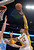 Los Angeles Lakers center Dwight Howard, right, shoots over Denver Nuggets' Kosta Koufos during the first half of their NBA basketball game, Sunday, Jan. 6, 2013, in Los Angeles. (AP Photo/Mark J. Terrill)