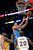 Denver Nuggets center JaVale McGee (34) goes to the basket over Los Angeles Lakers' Jodie Meeks during the first half of their NBA basketball game, Sunday, Jan. 6, 2013, in Los Angeles. (AP Photo/Mark J. Terrill)