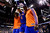 DENVER, CO - MARCH 13: Tyson Chandler (6) of the New York Knicks is helped off the court by teammates after getting injured against the Denver Nuggets during the first half of action. The Denver Nuggets play the New York Knicks at the Pepsi Center. (Photo by AAron Ontiveroz/The Denver Post)