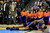 DENVER, CO - MARCH 13: Tyson Chandler (6) of the New York Knicks goes down against the Denver Nuggets during the first half of action. The Denver Nuggets play the New York Knicks at the Pepsi Center. (Photo by AAron Ontiveroz/The Denver Post)