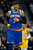 Carmelo Anthony (7) of the New York Knicks smiles as he jogs down the court during the second quarter in their game against the Denver Nuggets March 13,  2013 at Pepsi Center. (Photo By John Leyba/The Denver Post)