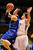 BOULDER, CO. - MARCH 15: Broomfield senior guard Evan Kihn, left, made a move past Valor forward Clarke Cooper, right, in the first half. The Valor Christian High School boy's basketball team stunned Broomfield 75-74 Friday night, March 15, 2013 at the Coors Events Center in Boulder.  (Photo By Karl Gehring/The Denver Post)