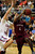 GREENWOOD VILLAGE, CO. - FEBRUARY 6: Griffin Parr of Cherry Creek defends the drive to the basket by Cherokee Trail's Tyler Larkin in the fourth quarter Wednesday night at Cherry Creek High School. Larkin scored to extend the Cougar lead late in the game. (Photo by Steve Nehf, The Denver Post)